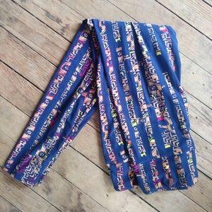 Lularoe leggings Navy and Tan Great Pattern